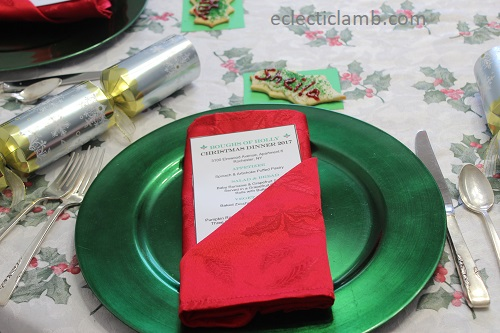 Christmas 6 Course Meal Menu Card