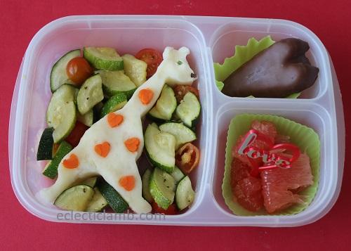 Mashed Potato Valentine Giraffe Lunch