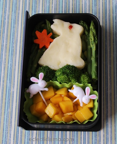 Bunny Mashed Potato Bento