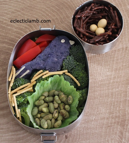 Blue Potato Bird Bento Lunch