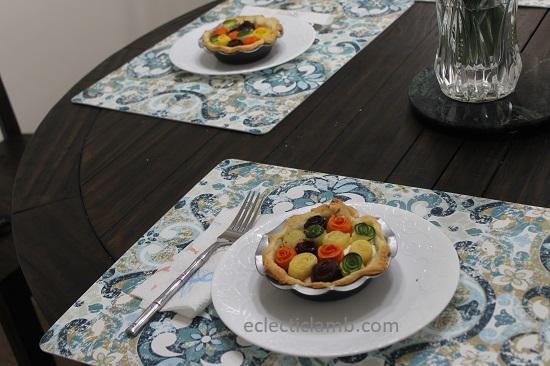 Carrot Zucchini Rose Tarts Dinner