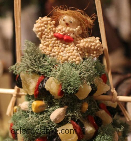 Corn husk birdseed angel