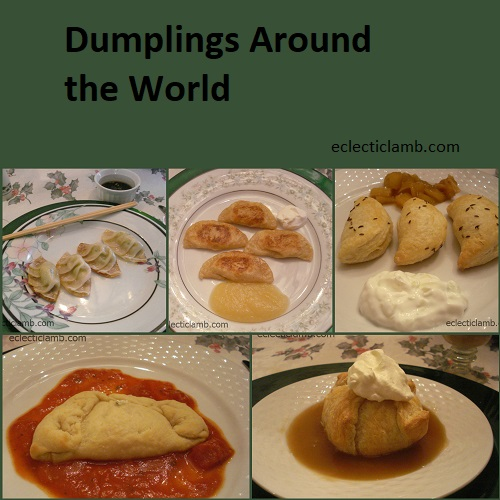 Dumplings Around World Collage
