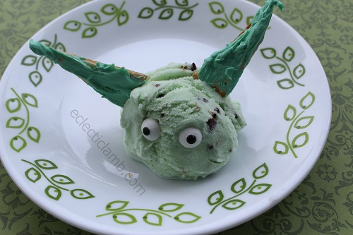 Yoda Ice Cream candy melt ears