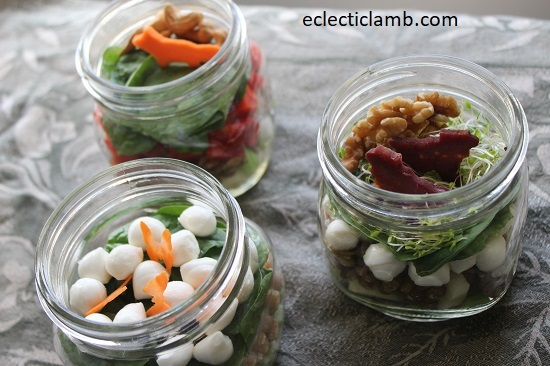 Fox Sheep Butterfly Terrarium Salad Lunches Mason Jar