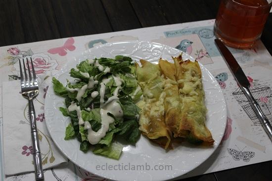 Broccoli crepes with salad.JPG