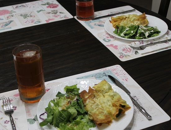 Crepes and Salad Dinner