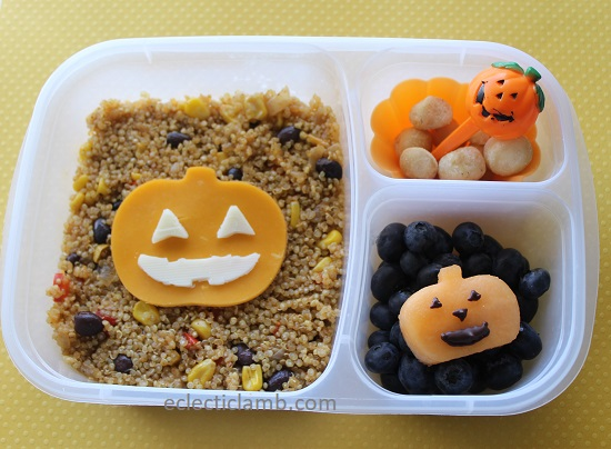 Jack-o-lantern grain lunch