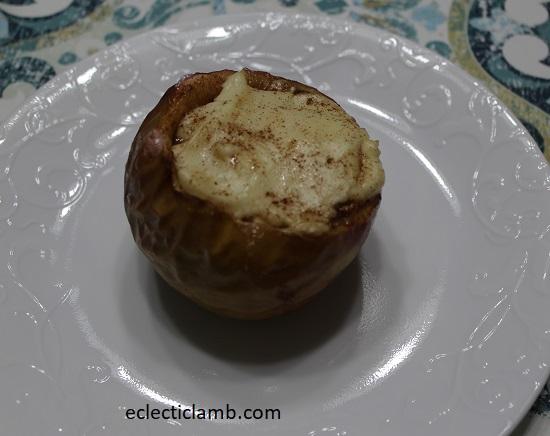 Apple Stuffed Cheesecake