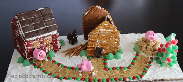 3 Little Pigs Gingerbread Houses