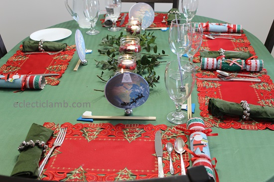7 Continents Santa Around World Dinner Table