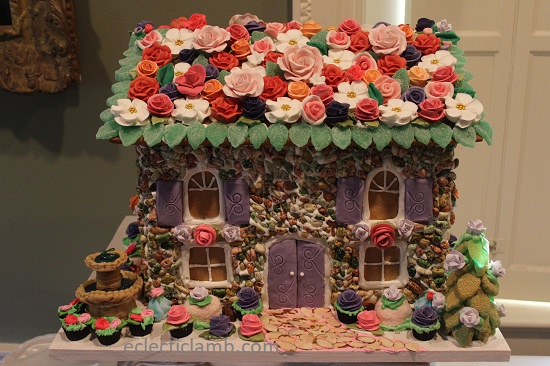 Rose Gingerbread House