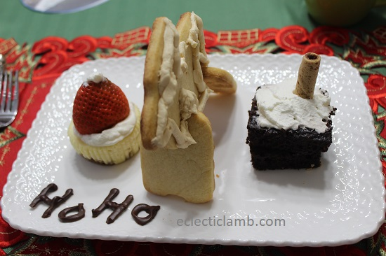 Santa Themed Dessert Trio
