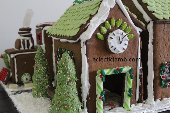 Back side of Gingerbread Train Station