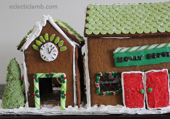 Gingerbread Train Station Back