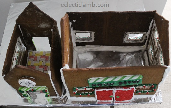 inside gingerbread house no roof
