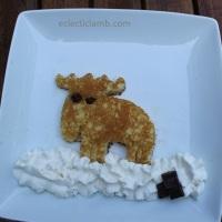 Moose in the Snow Pancake