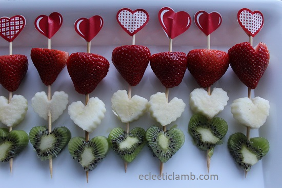heart fruit kebabs