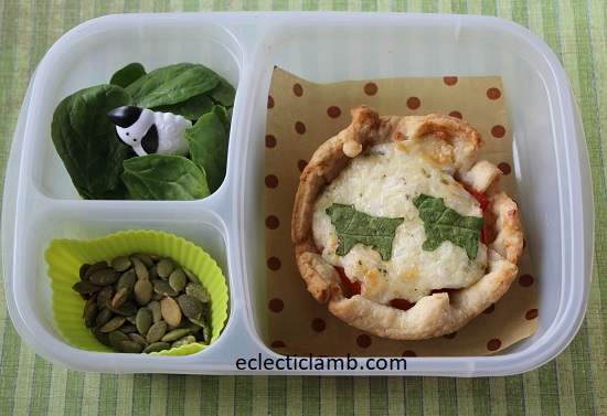 Sheep themed tomato tart