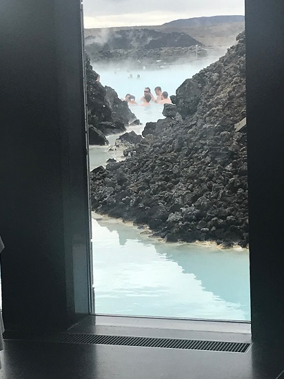 View from Lava Restaurant Blue Lagoon Iceland