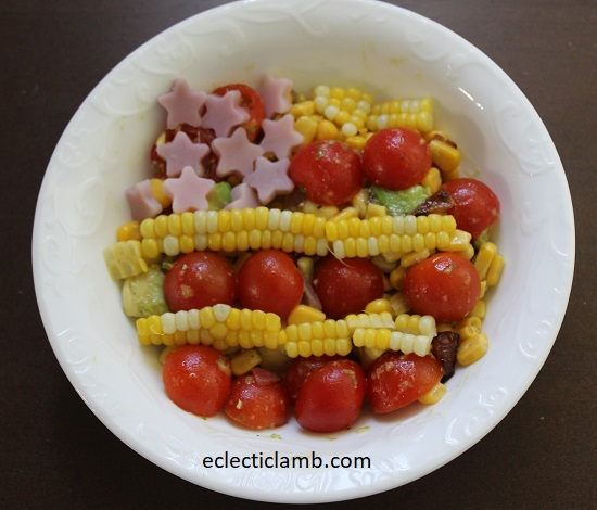 4th of July Corn Avocado Tomato Salad