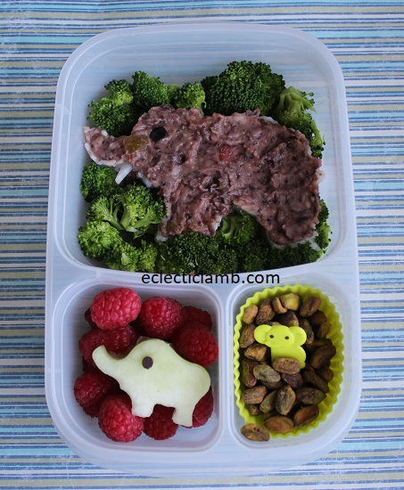 Black Bean and Rice Elephant Lunch