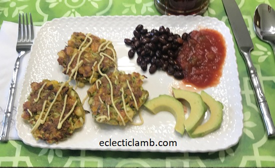 Zucchini Fritter Lunch