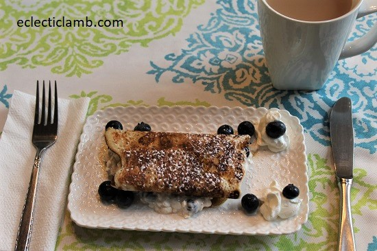 Dads Blueberry Blintzes