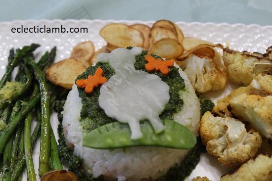 Sheep Daikon Layered Rice