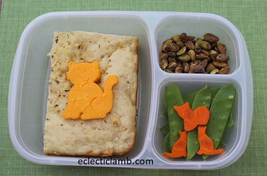Cat Cheese and Bread Lunch