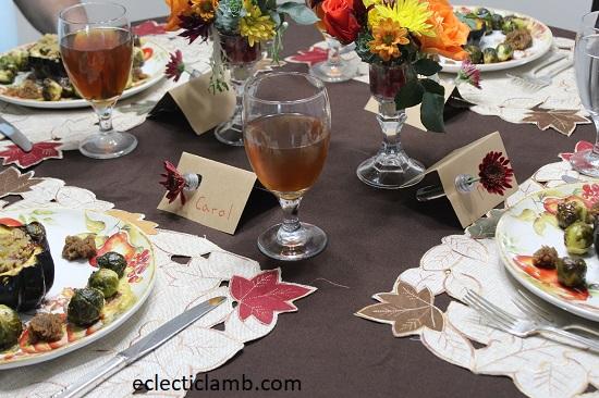 Vegan Thanksgiving Table