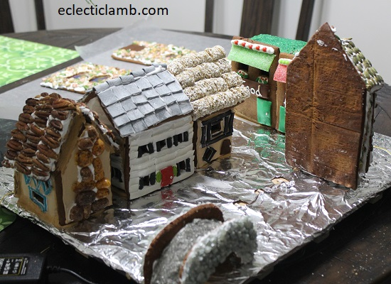 Back Gingerbread Houses Village