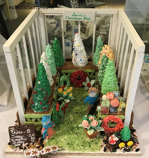 Gingerbread Trees in Greenhouse