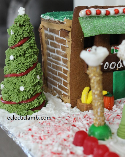 Gingerbread Village Christmas Tree