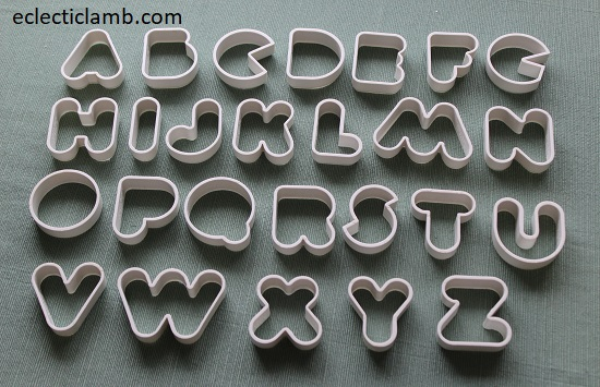 1.5 inch Letters Cookie Cutters