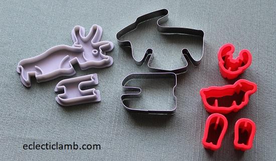 3D Reindeer Cookie Cutters