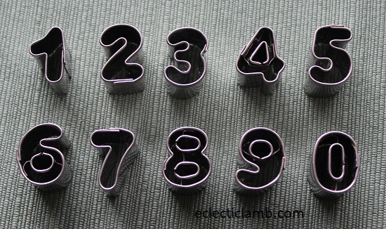 .5 inch Numbers Cookie cutters