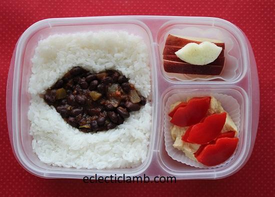 Black Beans Salsa Lips Lunch
