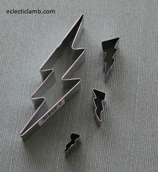 LIghtning Cookie Cutters