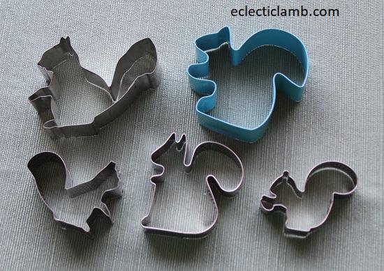 Squirrel Cookie Cutters