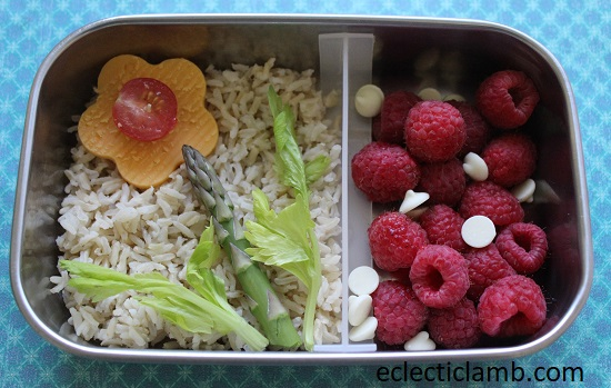 Asparagus flower lunch