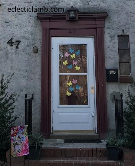 Butterflies on Door