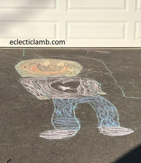 Chalk Art Person