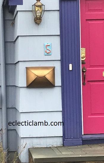 Gold Envelope Mailbox