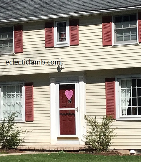 Heart with Red Shutters