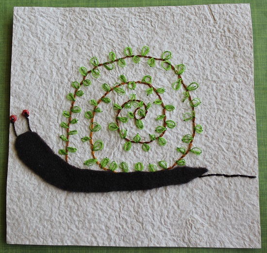 6x6 Snail Embroidery Submission