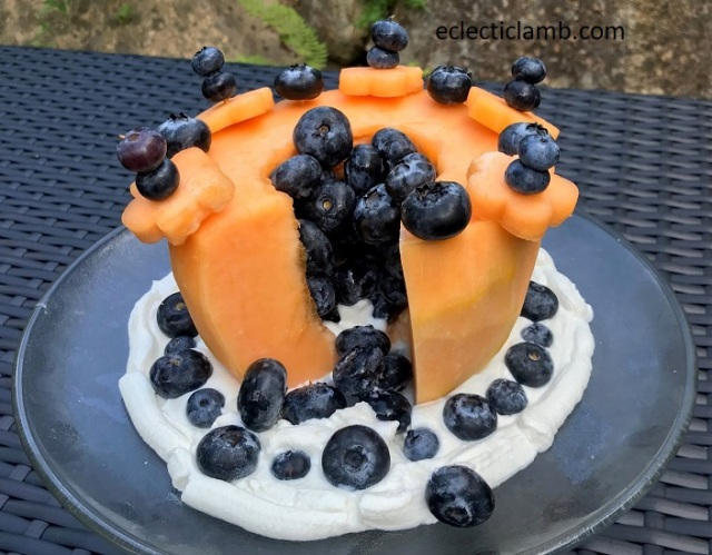Inside of Melon Cake