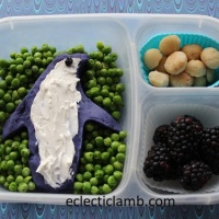 Blue Potato Penguin Lunch